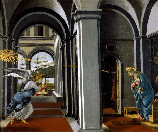 """One of Botticelli's paintings on display at the Art Gallery of Alberta's """"Of Heaven and Earth"""" feature exhibit."""